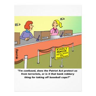 PATRIOT ACT / BANK ROBBERY 21.5 CM X 28 CM FLYER