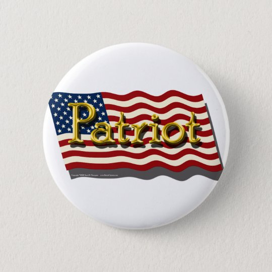 Patriot Button (Gold)