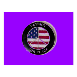 Patriot For Peace Postcard