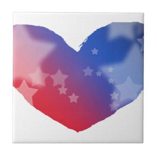 Patriot Heart Small Square Tile