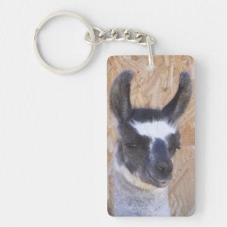 Patriot Llama Single-Sided Rectangular Acrylic Keychain