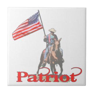 Patriot on horseback 2 ceramic tiles
