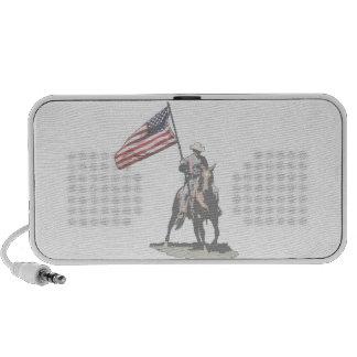 Patriot on horseback mini speakers