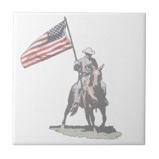 Patriot on horseback ceramic tiles