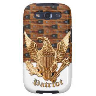 Patriot on wood background samsung galaxy s3 cases