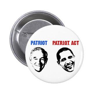 Patriot / Patriot Act 6 Cm Round Badge