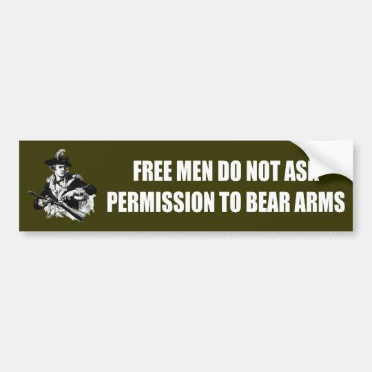 Patriot -Permission Bumper Sticker