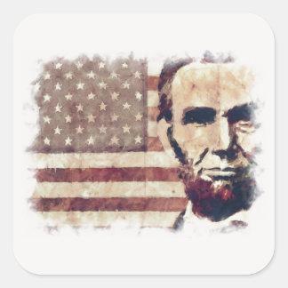 Patriot President Abraham Lincoln Square Stickers