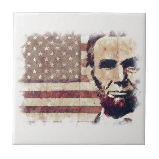 Patriot President Abraham Lincoln Ceramic Tile