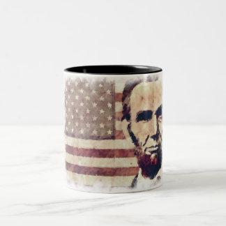 Patriot President Abraham Lincoln Two-Tone Coffee Mug