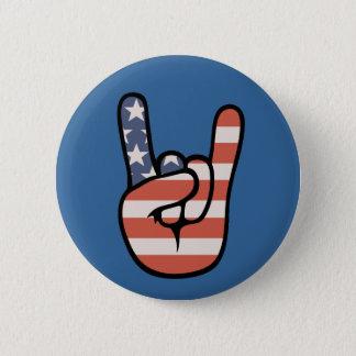 Patriot Rock Hand 6 Cm Round Badge