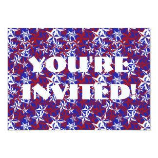 Patriot Stars custom 13 Cm X 18 Cm Invitation Card