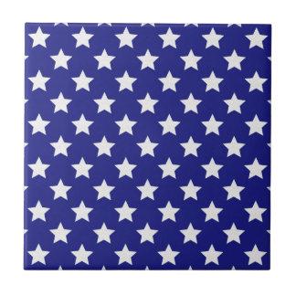 Patriot stars pattern small square tile
