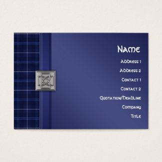 Patriot Tartan in Blue with Celtic Knotwork Pin Business Card