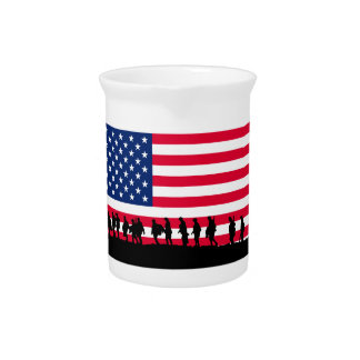 Patriot USA Soldiers flag motif Pitcher