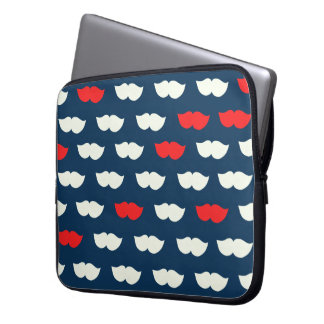 Patriot Vintage Red White Moustaches Laptop Sleeve