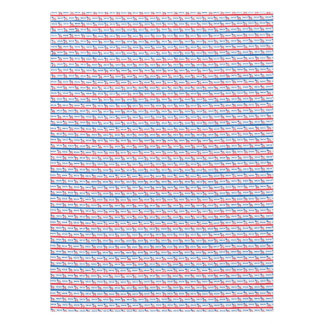 Patriotic 2016 Democrat Donkey Stripes Tablecloth
