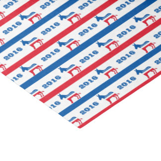 Patriotic 2016 Democrat Donkey Stripes Tissue Paper