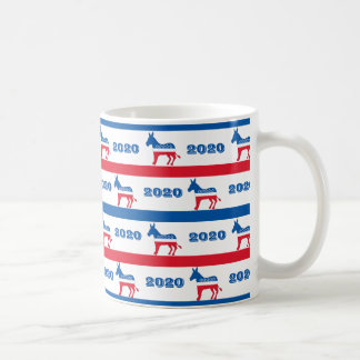 Patriotic 2020 Democrat Donkey Stripes Coffee Mug