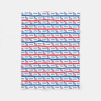 Patriotic 2020 Democrat Donkey Stripes Fleece Blanket