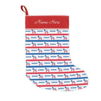 Patriotic 2020 Democrat Donkey Stripes Small Christmas Stocking