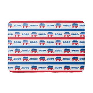 Patriotic 2020 Republican Elephant Stripes Bath Mat