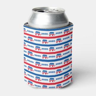 Patriotic 2020 Republican Elephant Stripes Can Cooler