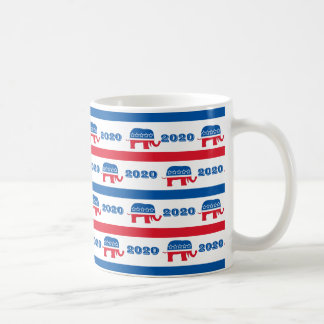 Patriotic 2020 Republican Elephant Stripes Coffee Mug