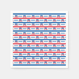 Patriotic 2020 Republican Elephant Stripes Disposable Napkin