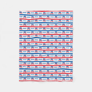Patriotic 2020 Republican Elephant Stripes Fleece Blanket