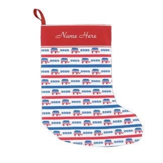 Patriotic 2020 Republican Elephant Stripes Small Christmas Stocking