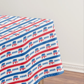 Patriotic 2020 Republican Elephant Stripes Tablecloth