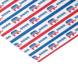 Patriotic 2020 Republican Elephant Stripes Tissue Paper