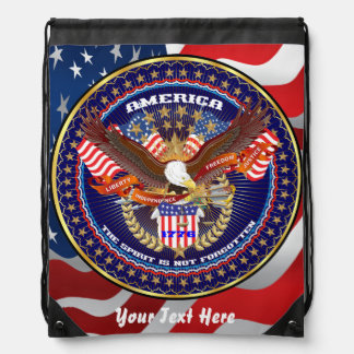 Patriotic 4th July View About Design Rucksacks