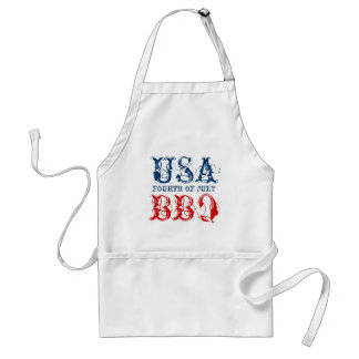 Patriotic 4th of July party BBQ aprons | USA 1776