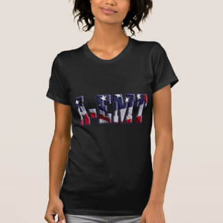 PATRIOTIC A-EMT FLAG WRAPPED EMERGENCY MED TECH T-Shirt