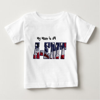 PATRIOTIC A-EMT FLAG WRAPPED EMERGENCY MED TECH T-SHIRTS