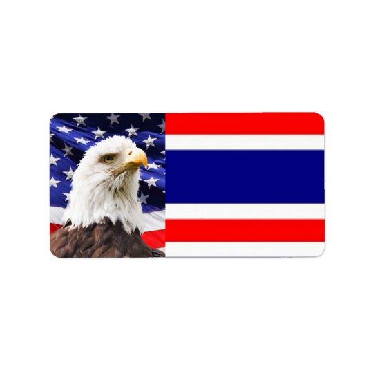 Patriotic Address Label