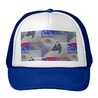Patriotic African Grey Mesh Hat