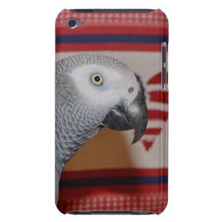 Patriotic African Grey Parrot Barely There iPod Cases