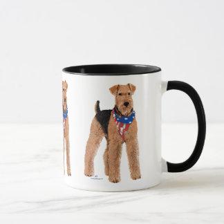 Patriotic Airedale Terrier Mug