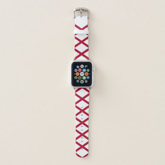Patriotic Alabama State Flag Apple Watch Band