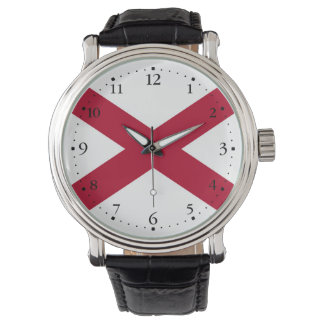 Patriotic Alabama State Flag Wrist Watches