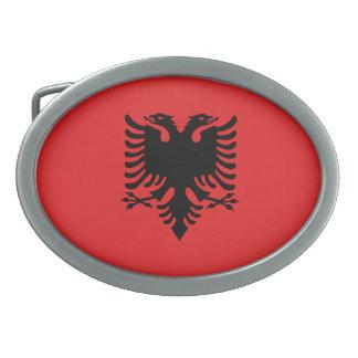 Patriotic Albanian Flag Oval Belt Buckles
