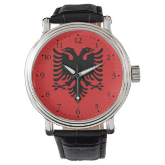 Patriotic Albanian Flag Wristwatch