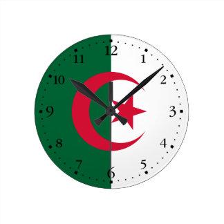 Patriotic Algerian Flag Round Clock