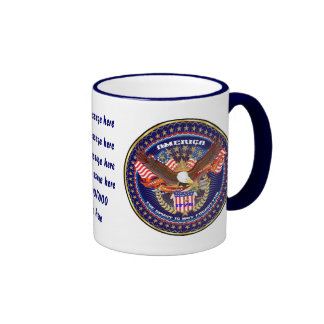 Patriotic All Styles  Add your Image and text Ringer Mug