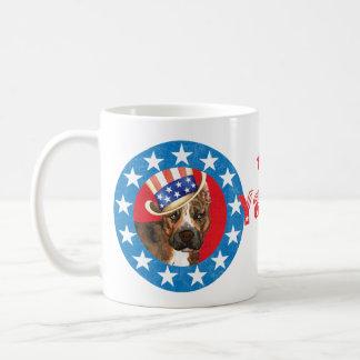 Patriotic Am Staff Basic White Mug