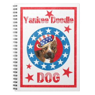 Patriotic Am Staff Spiral Note Book