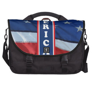 Patriotic Amercia Red White & Blue Commuter Bags